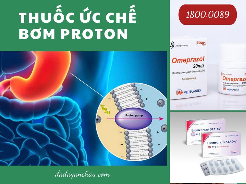 Thuốc ức chế bơm proton được sử dụng phổ biến trong điều trị viêm loét dạ dày