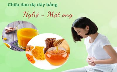 【Mẹo】Mách bạn 3 cách chữa đau dạ dày bằng nghệ tươi và mật ong
