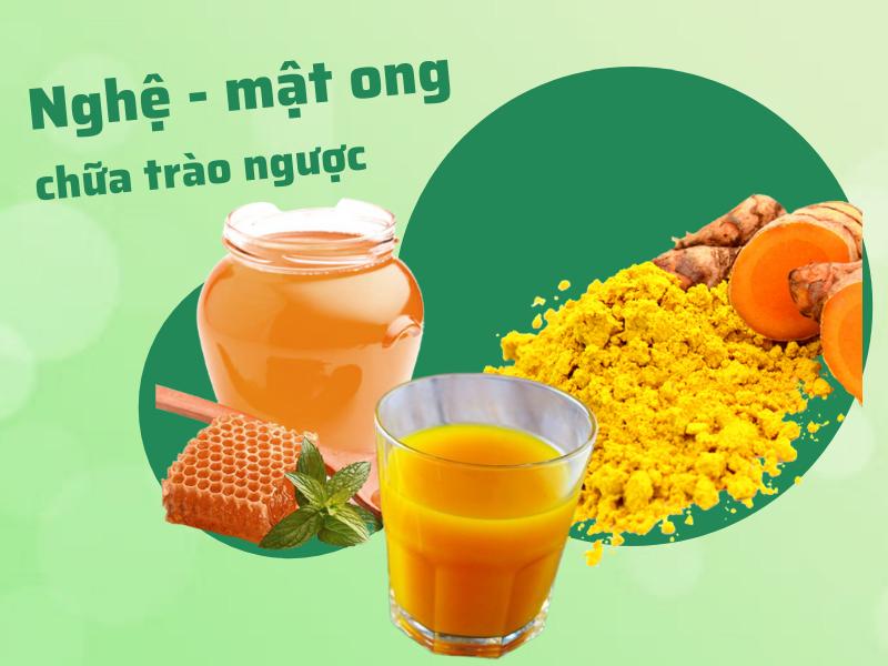 Người bệnh trào ngược dạ dày nên uống nước nghệ - mật ong